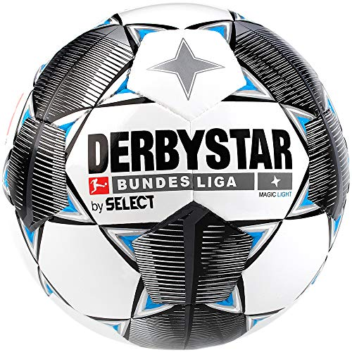 Derbystar Kinder Bundesliga Magic Light Fußball, weiß schwarz blau, 4