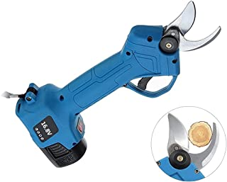 Electric Pruning Shears Cordless Electric Secateur Pruner with 2pcs 16.8V 2000 mAH Rechargeable Battery,Professional Garde...