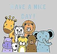 子供のための数字によるペイントキット大人の初心者、かわいい動物、20X20CM子供の数字によるペイントキット-ブラシとペイントで木製フレームに取り付けられたキャンバス絵画