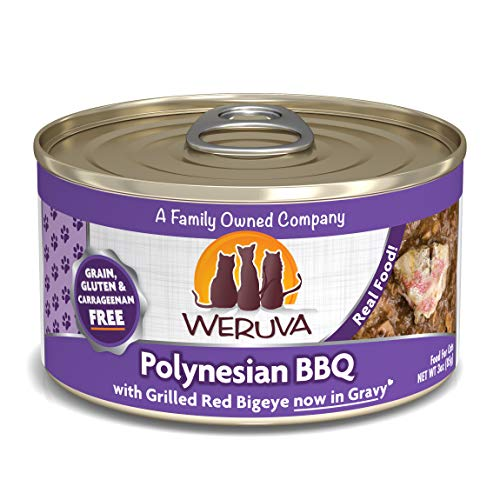 Weruva Classic Cat Food, Polynesian Bbq With Grilled Red Bigeye In Aspic, 3Oz Can (Pack Of 24)