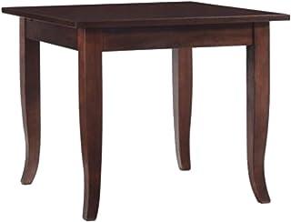 SF SAVINO FILIPPO Table basse fixe carrée en bois noyer marron 70 x 70 cm pour restaurant, maison, cuisine, salon, salle à...