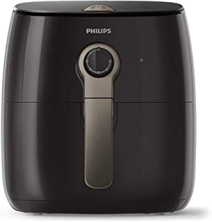 PHILIPS Premium Air Fryer with Rapid Air Technology for Healthy Cooking, 90 Percent Less Oil, 1500 W, Black/Brown - HD9721/11