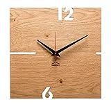 huamet. Orologio da Parete in Legno di Rovere, angolare, PUHR - Design Unico, Silenzioso e Senza ticchettio - Prodotto di Alta qualità Made in Alto Adige - CH51-A-00