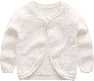XIAOHAWANG Knitted Baby Girls Cardigan Toddler Button up Sweaters