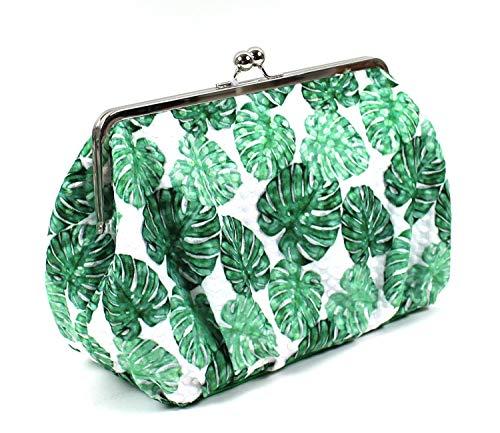 Kulturtasche Endless Summer HOT Green im Vintage Stil mit Klippverschluss. Extra geräumiger Kulturbeutel für Ihre Urlaubsreise. Ideale Geschenkidee für Jede modebewusste Sonnenanbeterin.