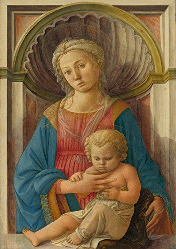 Fra Filippo Lippi: Madonna and Child. Fine Art Print/Poster (59.4cm x 42cm)