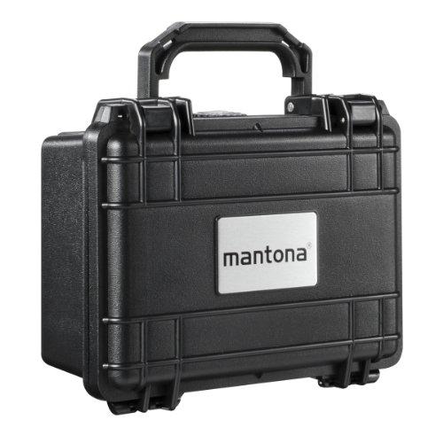 Mantona Outdoor Foto Schutz-Koffer S (geeignet für DSLR Kamera, GoPro Actioncam, Foto-Equipment uvm., wasserdicht, stoßfest, staubdicht) schwarz