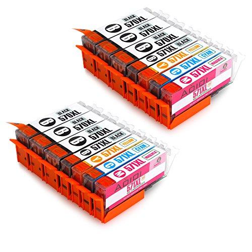 Aoioi PGI-570 CLI-571 Compatibili Cartucce Canon PGI-570 CLI-571 XL per Canon PIXMA MG5750 MG5751 MG5752 MG6850 MG6851 MG6852 TS5050 TS5051 TS6050 TS6051 (6 PG-Nero,2 Nero,2 Ciano,2 Magenta,2 Giallo)