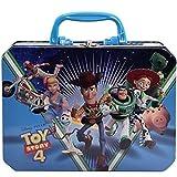 UPD OLCT Toy Story 4 デラックス長方形プラスチックハンドル缶ボックス 8.5 x 2.5 x 6.25インチ ブルー