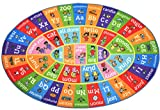 KC Cubs Playtime Collection ABC Alphabet ASL Sign Language Educational Learning & Game Oval Area Rug Carpet for Kids and Children Bedrooms and Playroom