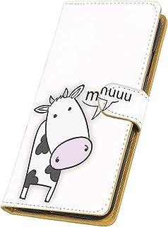 FFANY LG V20 PRO L-01J 用 手帳型 カードタイプ スマホケース 牧場ミルク・ホワイト うし キャラクター エルジー ブイトゥエンティ プロ docomo スマホカバー 携帯ケース スタンド ushi 00r_172@01c