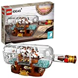 LEGO Ideas Ship in a Bottle 21313 Expert Building Kit, Snap Together Model Ship, Collectible Display...