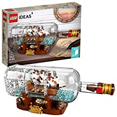 Builders of all ages will enjoy completing this advanced building set! The detailed ship in a bottle also includes a LEGO brick stand to display it proudly. This is the perfect model for older kids and adults who love miniature model ships! This expe...