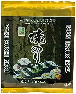 10 Blatt (25g)  JHFOODS Yaki Sushi Nori GOLD Quality geröst