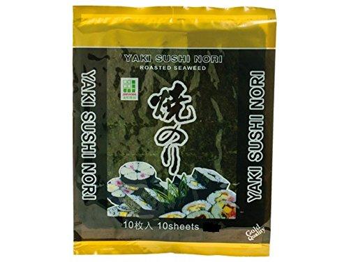Golden Turtle - 50 Feuilles dalgues(Varech) pour sushis et makis 140G