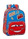 Safta 612111524 Mochila Escolar Infantil de Cars Mc Queen, 270x100x330mm, rojo/azul, talla única