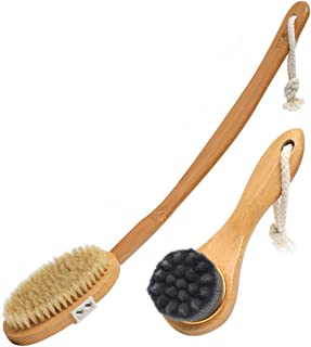 Cozy Bath Brush Bathing Artifact Back Bathing Brush Rubbing Back Mud Mud Long Handle Bath Towel Bathing Brush Bristle Soft Hair Brush Good Material (Color : C)
