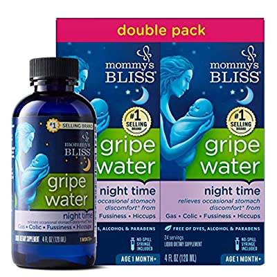 Mommy's Bliss - Gripe Water Night Time Double Pack - 8 FL OZ (2 Bottles)