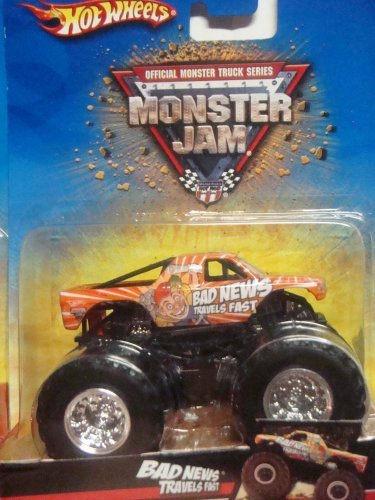 Hot Wheels Monster Jam Bad News Travels Fast & Dalmation Mutt 1/64
