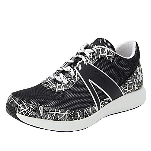 TRAQ BY ALEGRIA Qarma Womens Smart Walking Shoe On Point White 9 M US