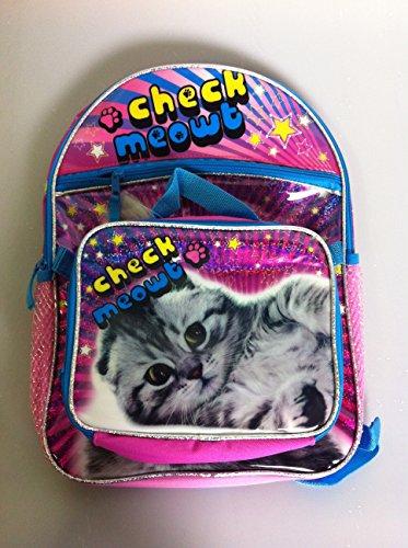 Global Design Concepts Check Meowt Kitty Back Pack and Lunch Bag Set by Global Design Concepts