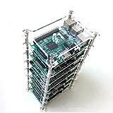 GeauxRobot Raspberry Pi 4 Model B 7-Layer Dog Bone Stack Clear Case Box Enclosure Also for Pi 3B+ 3B 2B B+ A+ B A …