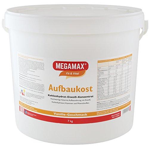 MEGAMAX - Aufbaukost - Suplemento para Ganar Peso y Masa Muscular - Vainilla - Solo un 0,5% de Grasa - 7 kg