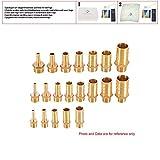 1 piezas Acoplamiento de tubería de latón 4/6/8/10/12/14/16/19 mm Manguera Barb Tail 1/8 '' 1/4''1/2''3/8 '' BSP Adaptador de acoplador de cobre conjunto de conector macho,1/8 '', púa de 4 mm
