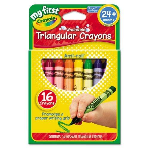 My First Crayola Washable Triangular Crayons-16/Pkg