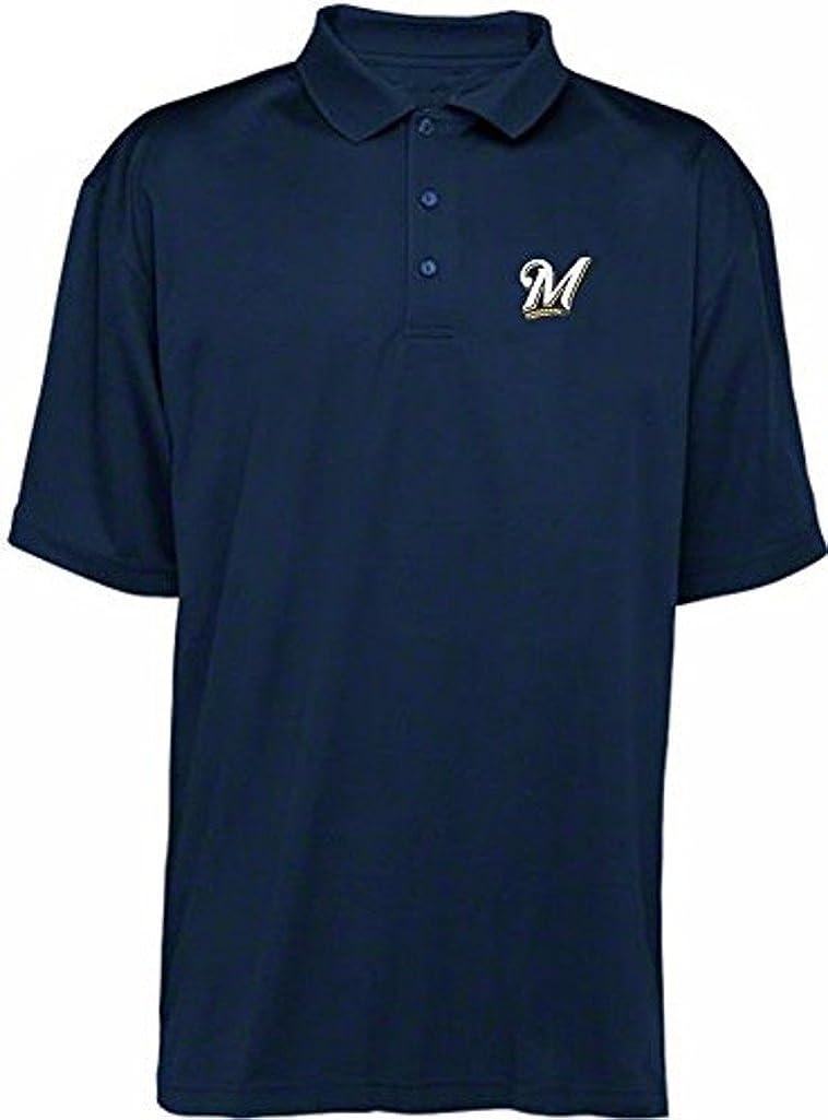 VF Milwaukee Brewers MLB Majestic Dri B Golf Fit Polo Navy Mesa Mall Max 84% OFF Shirt
