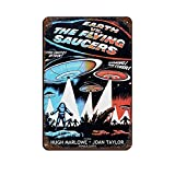 Earth Vs The Flying Saucers Vintage Classic Retro Movie Poster Tin Sign Vintage Metal Pub Club Cafe bar Home Wall Art Decoration Poster Retro 8×12inch(20×30cm)