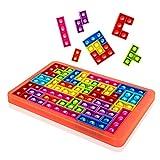 Milestar Big Pop Puzzle Game Fidget Jigsaw Toys Tetris Popper Pop Tablero de ajedrez Push Bubble Silicona Sensorial Fidget Toy Juguetes para padres e hijos, juguetes con amigos para aliviar la presión
