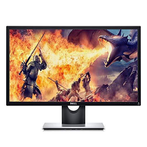 Dell SE2417HGX, 24 Zoll, Gaming Monitor, Full HD 1920x1080, 75 Hz, TN entspiegelt, 16:9, AMD FreeSync, 1 ms (extrem), neigbar, HDMI, VGA, schwarz/silber