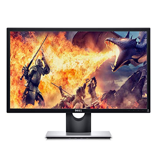 Dell SE2417HGX 23.6 Inch TN, Anti Glare, LED-backlit 2019 Gaming Monitor (Black) 1 MS Reponse Time, FHD (1920 x 1080) AT 60 Hz, Thin Bezel, 2xHDMI, VGA, Tilt and AMD Radeon FreeSync, 24