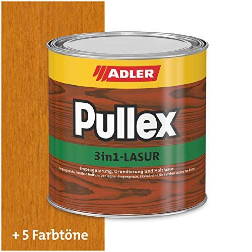 ADLER Pullex 3in1 Lasur Lärche 750 ml - Imprägnierlasur, Grundierung und Holzschutzlasur für Holz außen - Universelle Premium Holzlasur