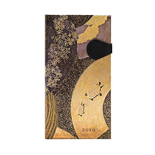 Paperblanks 2020- Ougi Verso Slim - Calendario de 12 meses (180 x 95 mm)
