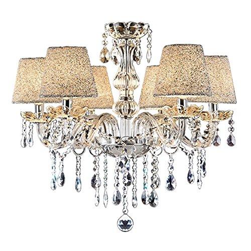 Vingo® 6de techo Araña–Lámpara colgante (Cristal Clásico Colgante de la luz de techo (colgante antiguo araña Blanco Cálido