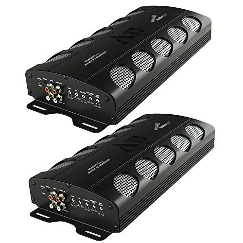 Audiopipe APCLE 1500 Watt Class D 1 Ohm Stable Car Audio Mono Amplifier (2 Pack)