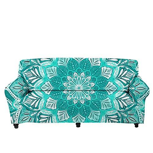 chaqlin Funda de sofá elástica con estampado de mandala vintage, funda de sofá antideslizante, para sofá seccional, protector de muebles para 4 plazas.