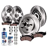 Detroit Axle - All (4) Front and Rear Disc Brake Kit Rotors w/Ceramic Pads w/Hardware & Brake Kit Cleaner Fluid for 2000 2001 2002 2003 2003 Ford F-150 2WD 5Lug - [2002 Lincoln Blackwood]