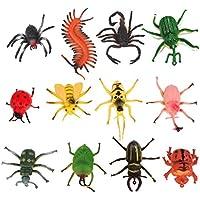 TOYMYTOY 12pcs juguetes modelo de insectos para niños trucos de fiesta (Variodos Colores)