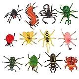 12 Stücke Kunststoff Insekten Marienkäfer Spinne Spielzeug für Kinder Party Mitgebsel Dekoration