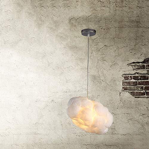 Wolken KronleuchterLed schwimmenden Leuchtturm weiße Wolken einfache Mode Wolke Kronleuchter Hotellobby Restaurant Beleuchtung Kunst Licht 40cm in Durchmesser-A