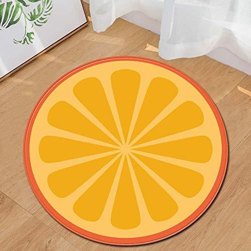 Xiaojie Fruit - Cuscino rotondo per sedia da computer, con piedini imbottiti per sedie da ufficio, 60 x 39 x 48/72 x 48/80 x 50, arancione - 80 cm