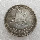 Eeng EL Salvador 1 Peso (Colon) Copia Monedas conmemorativas-réplicas Monedas Medalla Monedas coleccionables año Aleatorio