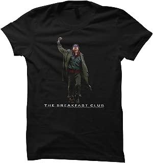 Breakfast Club 80's Teen Movie Judd Nelson Bender Fist Pump Black JRS T-Shirt