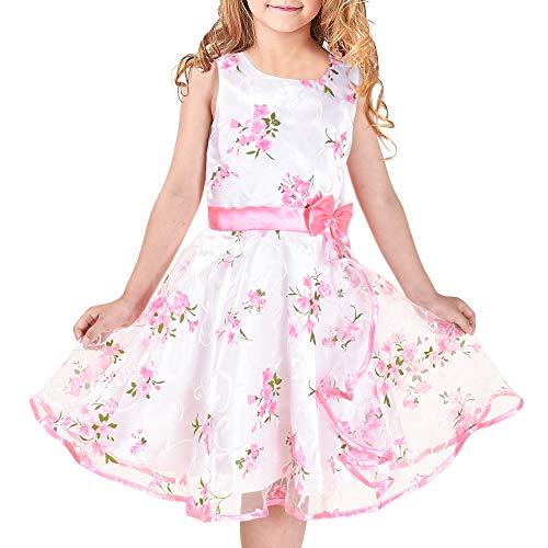 Sunny Fashion Vestito Bambina 3 Strati Girasole Onda Pageant Damigella d'Onore 11-12 Anni