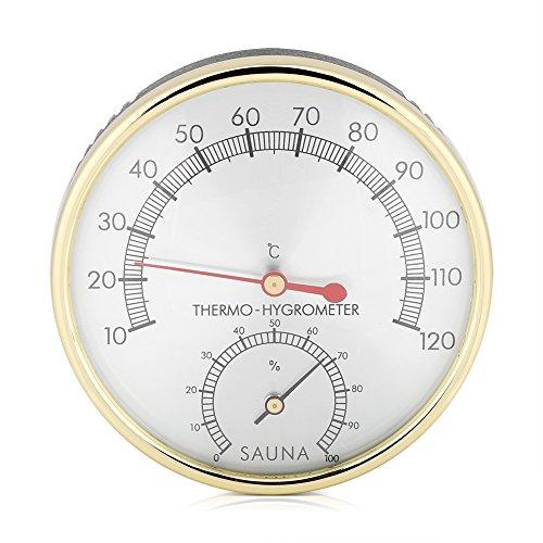 Zyyini Saunathermometer, Saunahygrometer, Multifunktionales 2 in 1 Saunathermometer Und Hygrometer Zur Messung Von Temperatur Und Luftfeuchtigkeit in Häusern Büros Werkstätten Schulen Und Mehr