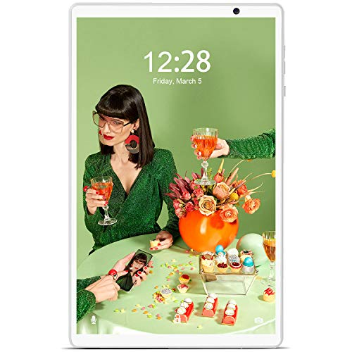 Tablet 10.1 Pollici, DUODUOGO Android 10 4G LTE Tablet con WiFi 4 GB RAM e 64 GB / 128GB Tablet PC in Offerta, Bluetooth, GPS, Type-C, Quad-Core, 8000mAh, 10 pollici tablet offerta (verde)