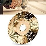 Muela Abrasivos, Discos para Amoladoras Angulares de Carburo de Tungsteno 100mm/85mm,Lijado Rápido y Robusto de Madera (Biselado dorado 100)